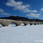 雪のタウシュベツ川橋梁(北海道上士幌町)