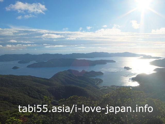 高知山展望台から古仁屋を一望