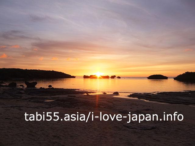 西表島有数の夕陽スポット!星砂の浜で夕焼け観賞