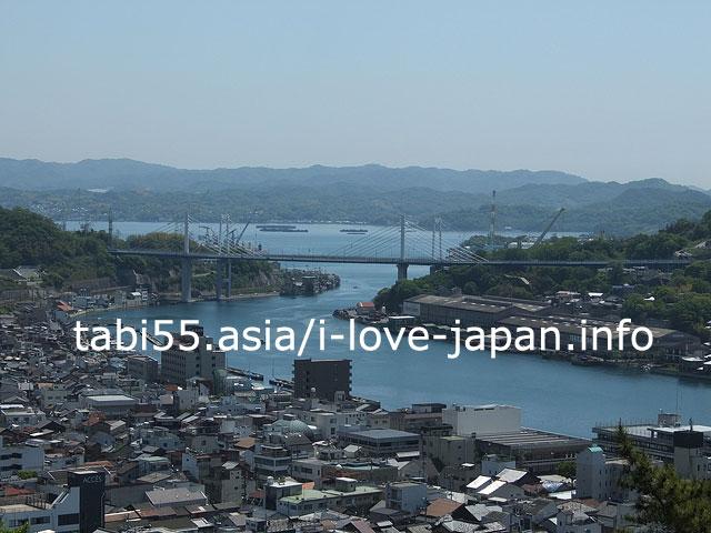 千光寺公園の展望台から、瀬戸内海を眺めましょう