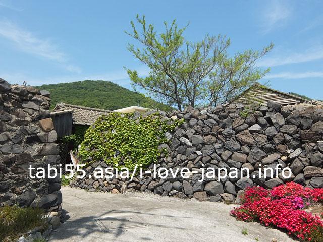 女木島特有の風景!オーテで守られた集落