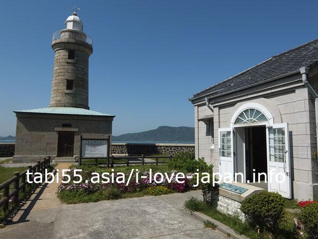 総御影石造りの洋式灯台!男木島灯台