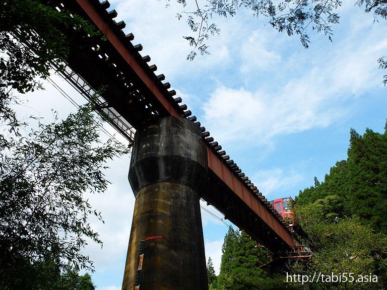 鉄橋と石橋/railway bridge and stone bridge(大分県九重町)