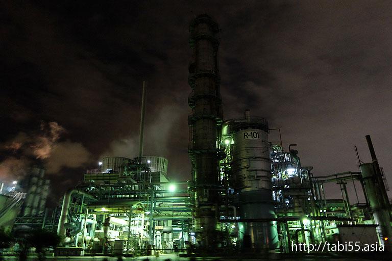 旭化成ケミカルズ|川崎工場夜景(神奈川県川崎市)