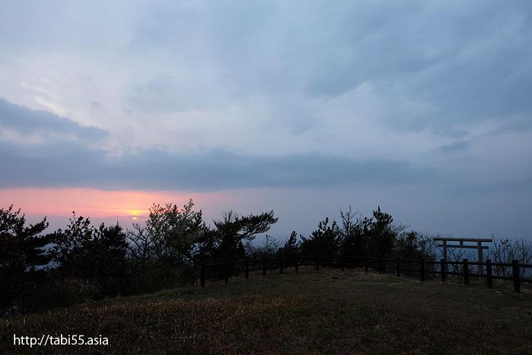 夕暮れ時の白島展望台(島根県)