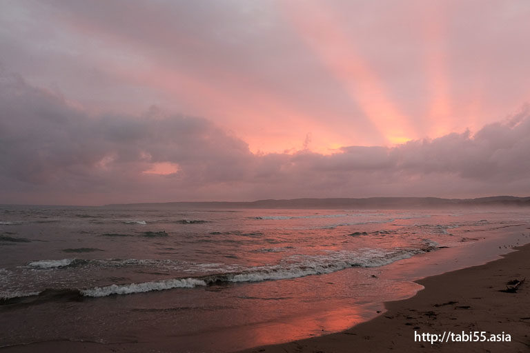 佐和田海水浴場の夕焼け(新潟県佐渡島)/Sawada beaches sunset (Sado Island, Niigata Prefecture)