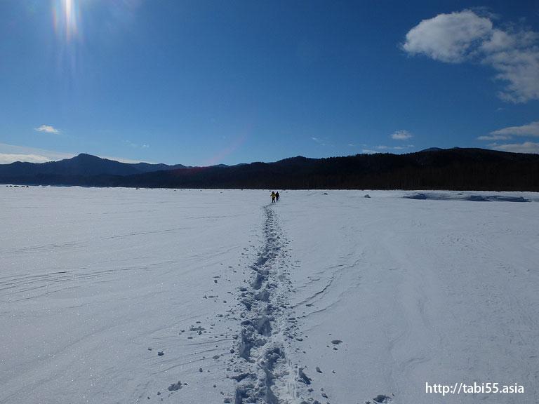 湖上横断!冬のタウシュベツツアー/Lake crossing! Winter Taushubetsu tour