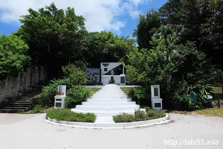 対馬丸記念館の近くにある「小桜の塔」@沖縄/那覇