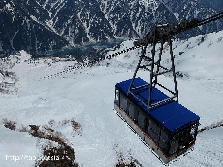 大観峰からの眺め@立山黒部アルペンルート