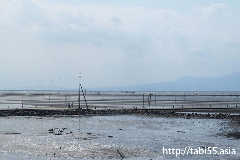 長浜漁港の海床路@熊本観光