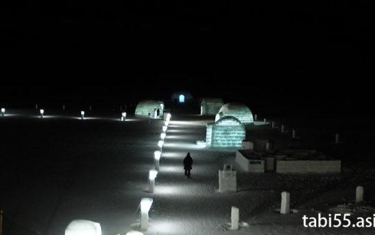 然別湖コタンで氷上露天風呂+アイスバー(北海道)