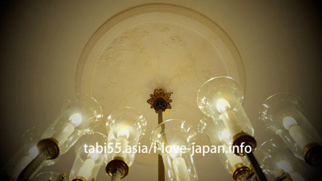 [国指定重要文化財]豊平館。天井の漆喰絵は必見