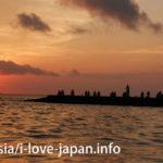 竹富島宿泊者限定!西桟橋近くから見る夕焼け
