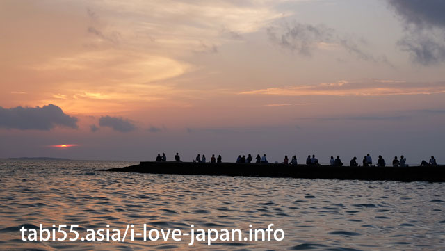 Taketomi-jima island guests only! Sunset from the nearby west pier