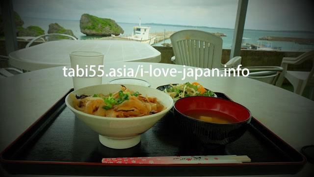 Ogami-jima specialty!Smoked Octopus bowl @ Opyu restaurant(おぷゆう食堂