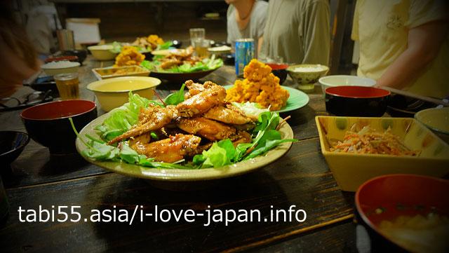 【夕ご飯】みんなでわいわい!島の食材でおいしい晩御飯