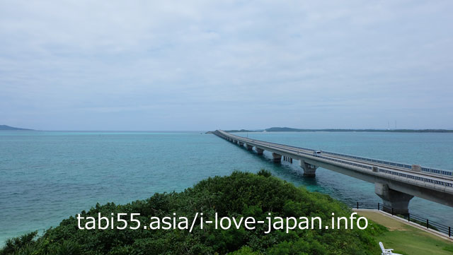 Cross Ikema Bridge to Ikejima-island