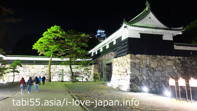It was during the event, so I went to Kochi Castle at night