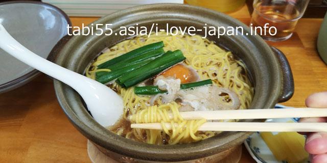 2-4. Kochi B-grade gourmet! Nabeyaki Ramen at Chiaki
