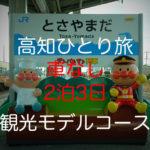 高知【2泊3日×車なし】ひとり旅しておすすめ!観光モデルコース