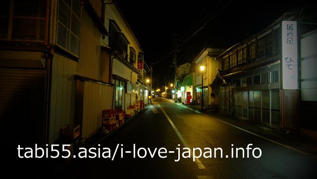 湯田川温泉のメインストリートは5分くらいで歩けます