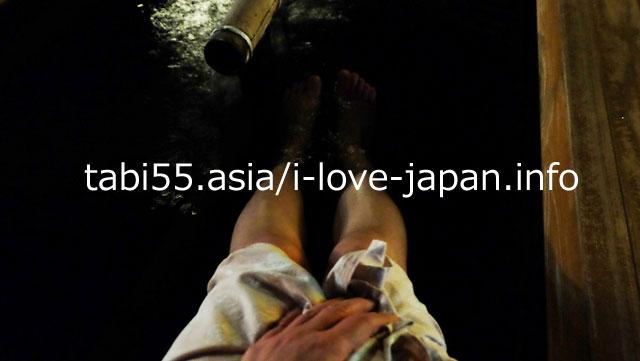 脚が冷えたので、湯田川温泉の足湯で温まる