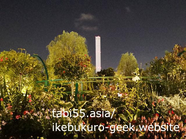 池袋駅直結!西武池袋「食と緑の空中庭園」で、夜のモネの池を愛でよう【無料】