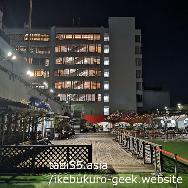 そんなところに、こんな空間?東武百貨店8階屋上でまったり