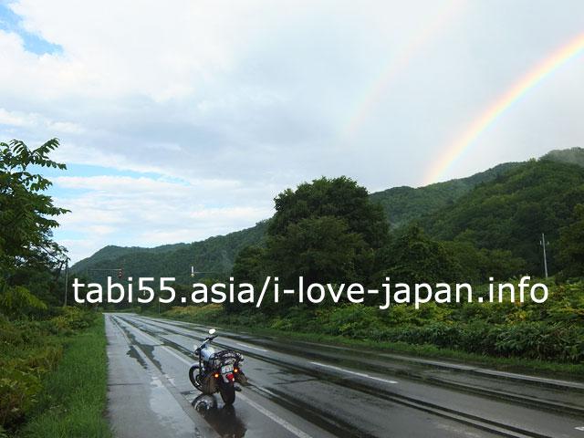 「暗雲」とカウンターで遭遇!にわか豪雨のあとに虹がでた