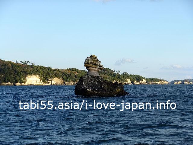 松島島巡り観光船で、松島湾を遊覧