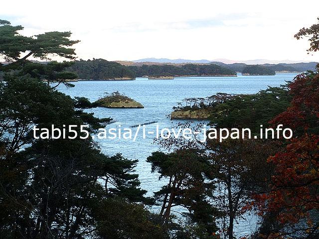 双観山(そうかんざん)から、松島湾の島々を眺める