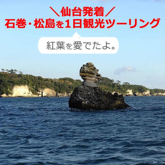 仙台から石巻・松島を【1日】観光し、紅葉を愛でたコース(宮城)