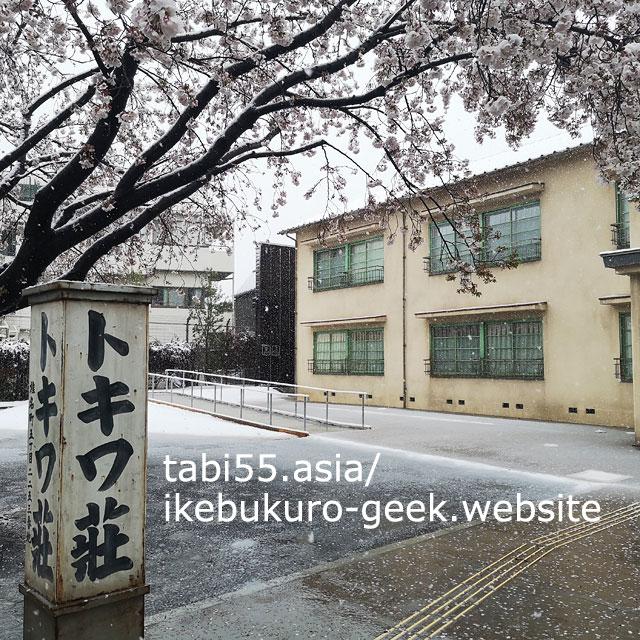 雪×桜×トキワ荘マンガミュージアム