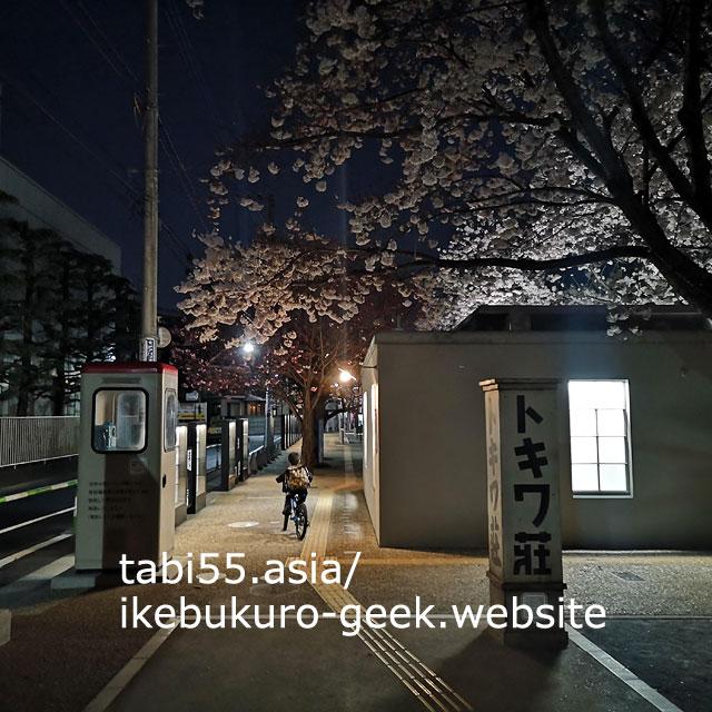 夜桜と、トキワ荘マンガミュージアム